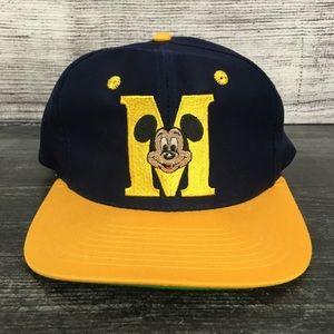 1990s Mickey Mouse Cartoon Snapback Hat